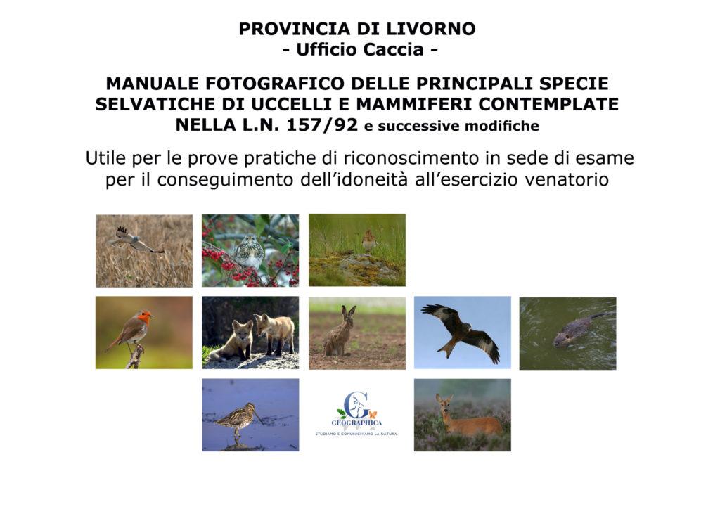 Manuale fotografico principali specie selvatiche